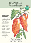 Tomato Pole Speckled Roman Organic Seeds