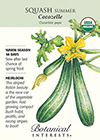 Squash Summer Cocozelle Organic HEIRLOOM Seeds