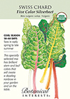 Swiss Chard Five Color Silverbeet Organic Seeds