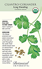 Cilantro/Coriander Long Standing Organic HEIRLOOM Seeds (LG)