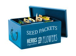 Seed Packet Organizer, Blue