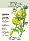 Tomato Pole Green Zebra Organic Seeds